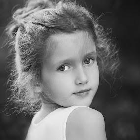 Tiny Ballerina by Amy Kiley - Black & White Portraits & People
