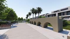 Aspecto que tendrá la reconstrucción de un fragmento del Acueducto en la nueva urbanización