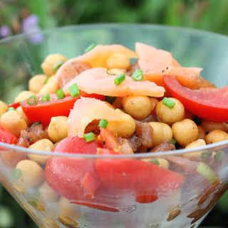 Salad and Canapes - with Kinvara Smoked Salmon.