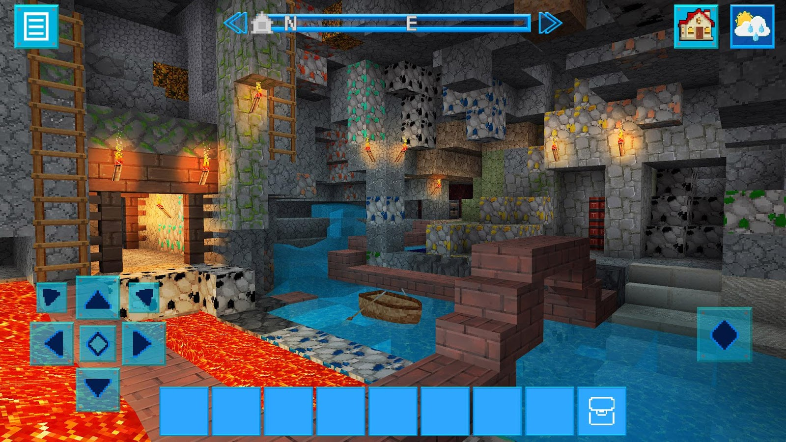 Adventurecraft 3d block building survival craft for Crafting and building app store