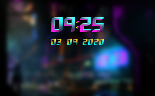 Download CYBERPUNK Digital Clock Widget MOD APK 10