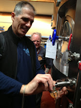 Photo: Mike get to try the Thiriez/Saint Somewhere concoction from the fermenter!