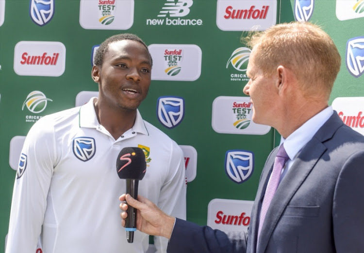 Man of the series Kagiso Rabada of South Africa during day 5 of the 4th Sunfoil Test match between South Africa and Australia at Bidvest Wanderers Stadium on April 03, 2018 in Johannesburg, South Africa.