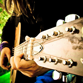 In Tune by Brooke Beauregard - Artistic Objects Musical Instruments ( music, girl, hands, acoustic, guitar )