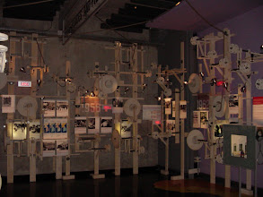 Photo: The are many unique design elements in the museum, as seen here in an area chronicling the early years of the US-Soviet conflict.