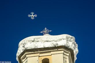 Photo: Ecco il drone sul cielo di Fraciscio.