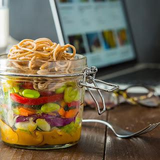 Mason Jar Sesame Soba Noodle Salad