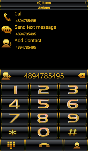 Theme Golden Black RocketDial