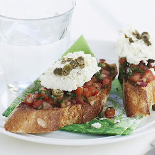 Bruschetta with Ricotta, Tomatoes and Capers
