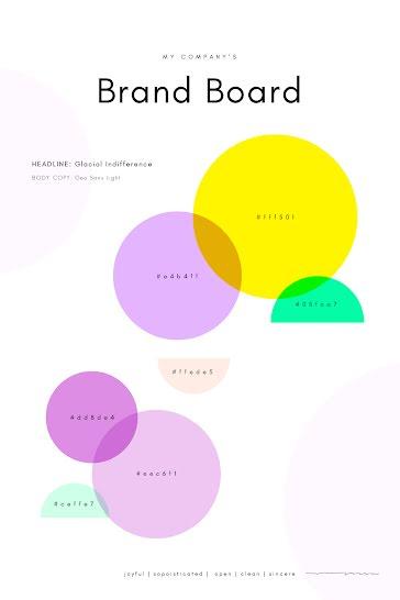 Brand Board Circles - Brand Board template