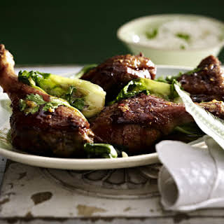 Duck Legs with Pak Choi.