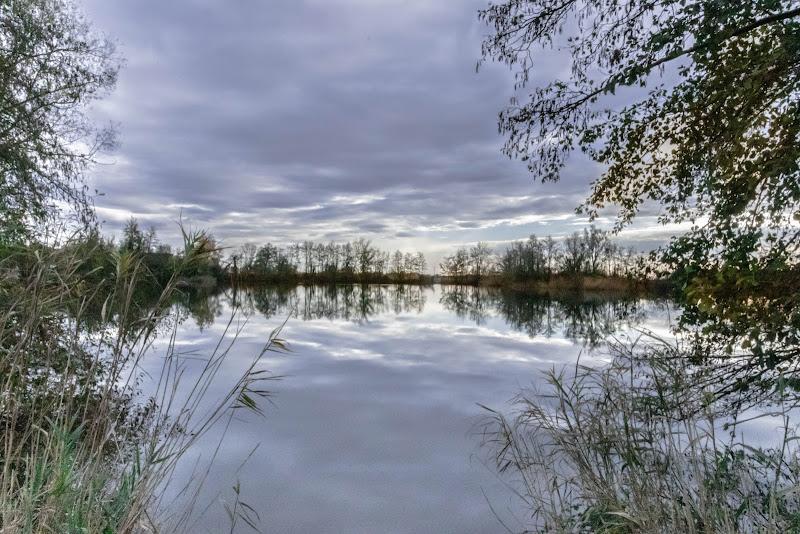 Riflessi sciolti nella laguna di pierce