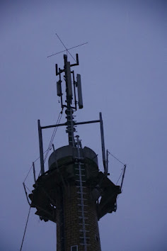 Bauarbeiten an der o2/Vodafone Sendestation. Foto: asc