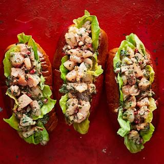 Melba Wilson's Shrimp Roll Sandwiches.
