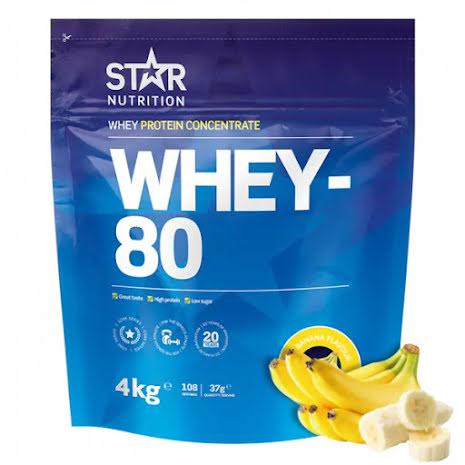 Star Nutrition Whey 80 4kg - Banana
