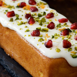 Sticky Orange Cake with Natural Yogurt Topping