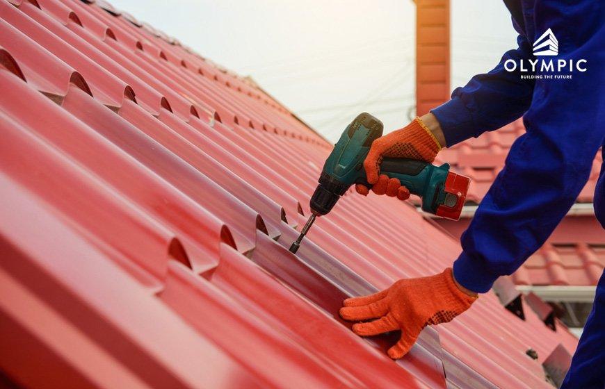 Thi công mái sân thượng an toàn