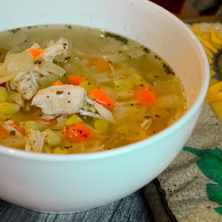 Slow Cooker Herbed Chicken with Rice Soup