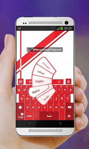玩個人化App|白色和紅色 GO Keyboard免費|APP試玩