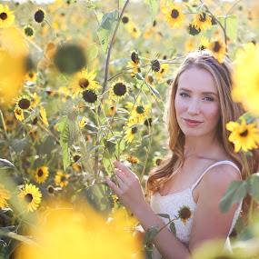 Wild flower by Cameron  Cleland - People Portraits of Women ( woman, glow, light, flower,  )