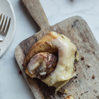 Soft Brown Butter & Eggnog Cinnamon Rolls