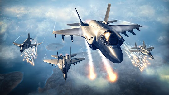 Sky Combat: war planes online simulator PVP Mod Apk Download For Android and Iphone 2