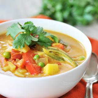 Homemade Yellow Curry Potato Soup.