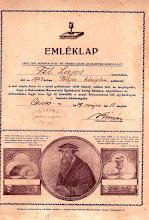 Photo: A csicsói református lelkészi hivatal pecsétje 1939-ből.