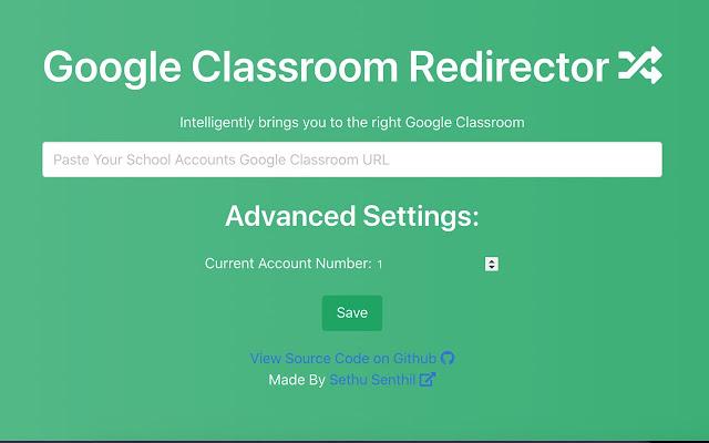 Google Classroom Redirector