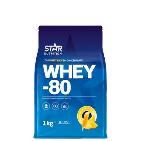 Star Nutrition Whey 80 1kg - Pineapple Ice Cream