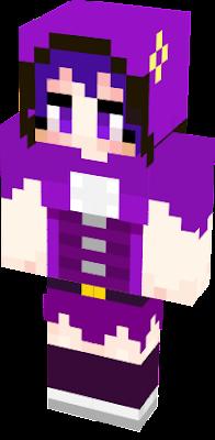Violetta Tulip, Purple tulip Flower Knight Girls Minecraft Skin