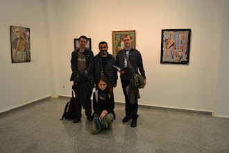 Photo: In the centre: Barış Seyitvan, a Kurdish artist and director Art Gallery in Sumer Park in Amed