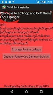 SNM Font Install for Lollipop- screenshot thumbnail
