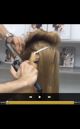 プロのヘアスタイル