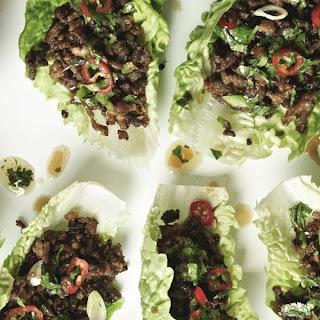 Chilli Beef Lettuce Wrap.
