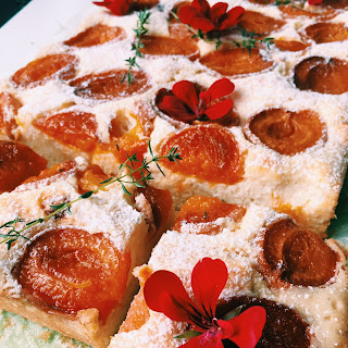 Apricot, Quark Cheese and Fresh Thyme Cake Recipe