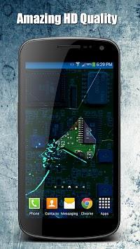 Crack Screen 3D Live Wallpaper Poster