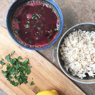 Beet Rasam (Spicy & Sour Lentil Soup)