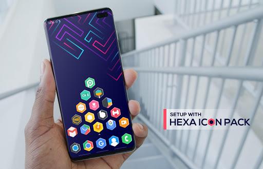 hexa icon pack : hexagonal screenshot 1