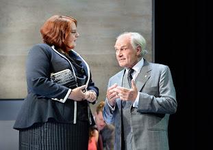 """Photo: WIEN/ Theater in der Josefstadt: """"VOR SONNENUNTERGANG"""" von Gerhard Hauptmann. Premiere 3.9.2015. Susanna Wiegand, Michael König. Copyright: Barbara Zeininger"""