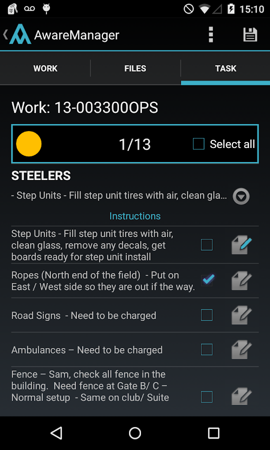 AwareManager Mobile - screenshot