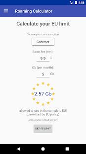 EU Roaming Data Counter - náhled