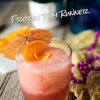 Frozen Rum Runner Cocktails.