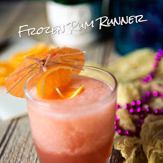 Frozen Rum Runner Cocktails.