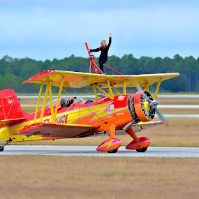 Wing Walker by Jarrod Unruh - Transportation Airplanes ( plane, performance, airplane, aircraft, performer, transportation, airshow,  )
