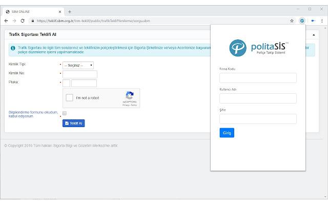 PolitaSis8 - Chrome Extension