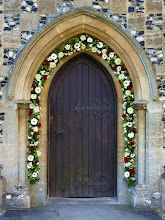 Photo: Church porch in Waterbeach at start of journey to London