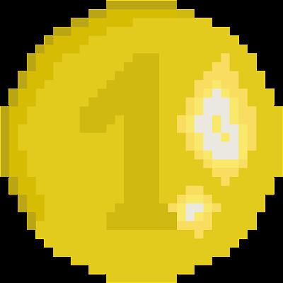 Gold,Coin,1$