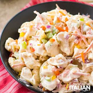 Creamy Tortellini Pasta Salad.