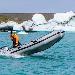 by Justin Hyder - Transportation Boats ( boat glacier speed )